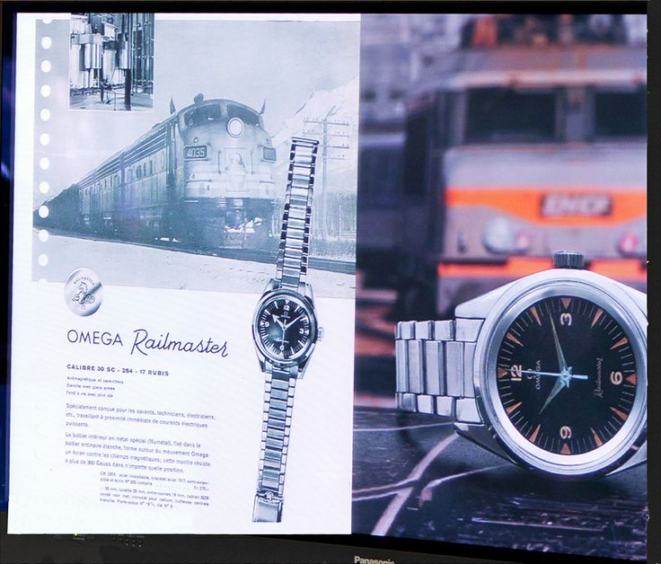 Original Ω Omega engineers' watch, the Railmaster!