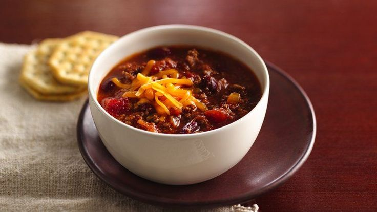 Chili Take 20 minutes in the morning to start hot and hearty chili simmering in a slow cooker.