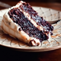 Chocolate Snickers Layer Cake.     http://www.sprinkledwithflour.com/2012/08/chocolate-snickers-layer-cake.html#