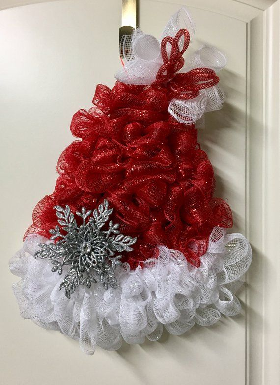 174ab1b635d Christmas Santa Wreath Santa Hat Wreath Santa Hat Christmas