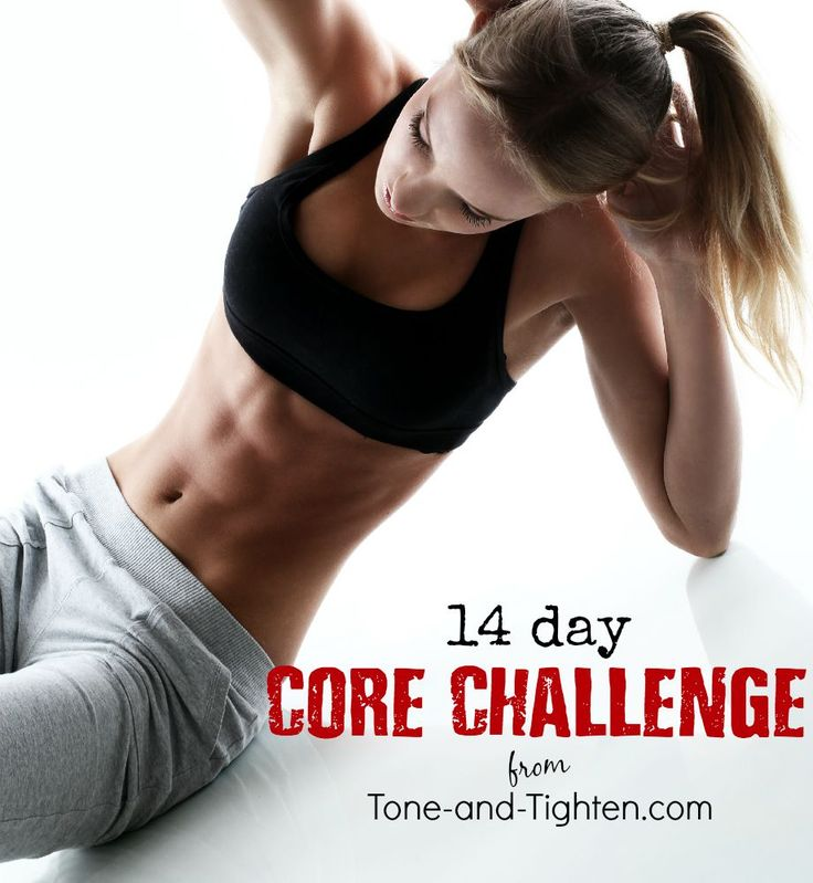 14 Days of ab workouts to tone and tighten your stomach - From Tone-and-Tighten.com