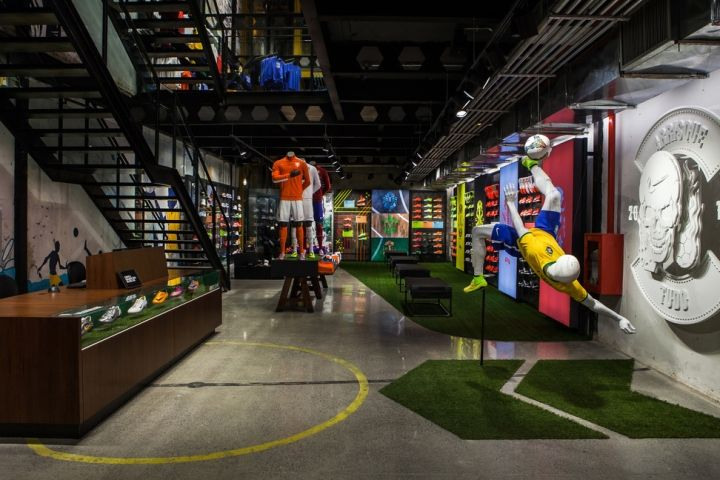 soccer store design   football only store Rio de Janeiro Brazil 03 Nike football only store ...