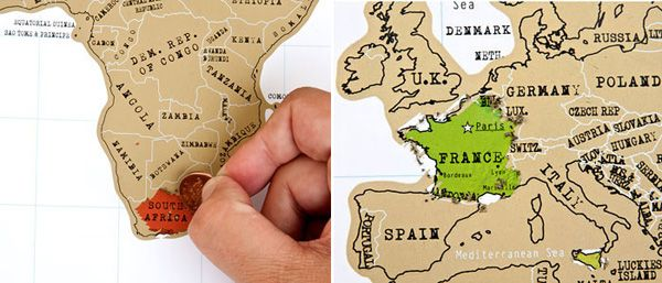 Scratch-off world map. I want this!