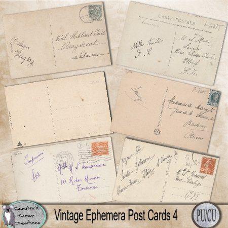 Vintage ephemera postcards 4