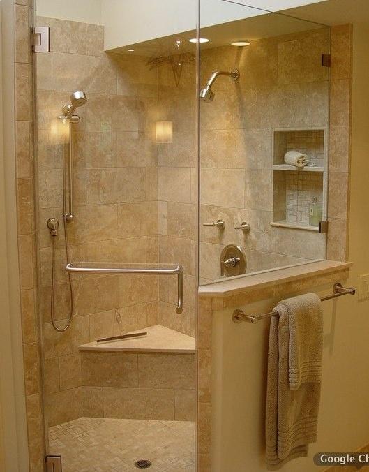 Corner Shower - Simple Tile