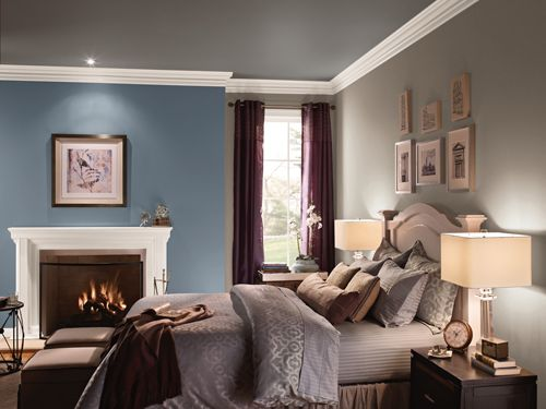 Paint one wall in your bedroom with a bolder color to make things pop.