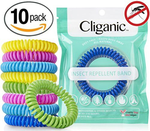 10 Pack Mosquito Repellent Bracelets, 100% Natural | Bug & Insect Protection, Waterproof DEET-FREE Band | Pest Control for Kids & Adult