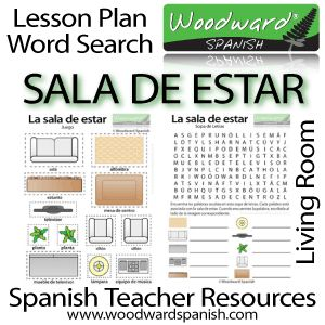 spanish teacher resources sala de estar living room lesson plan group activity and word search about the living room emphasis on vocabulary and - Living Room Candidate Lesson Plan