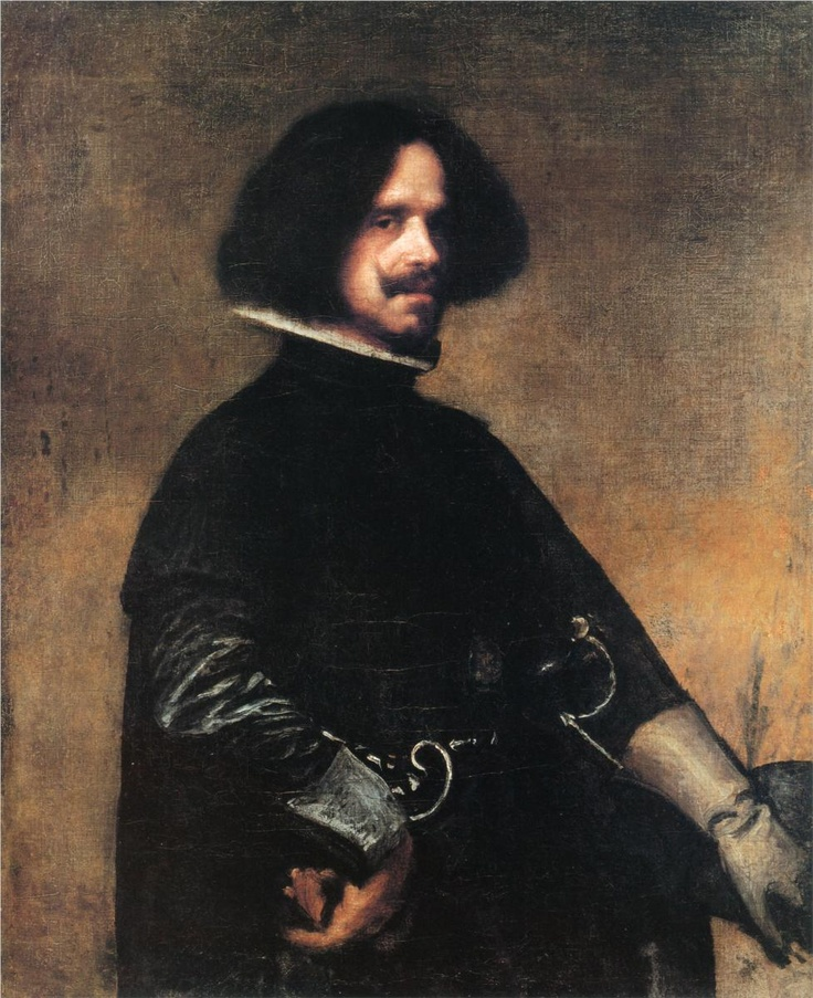This painting is a self portrait of Diego Velazquez. He was born in 1599 in Spain and died 1660 in Spain.