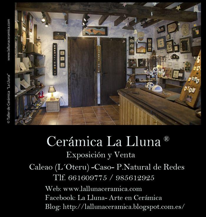 Tienda/Exposición La Lluna, Arte en Cerámica® en Caleao, Caso- Parque Natural de Redes