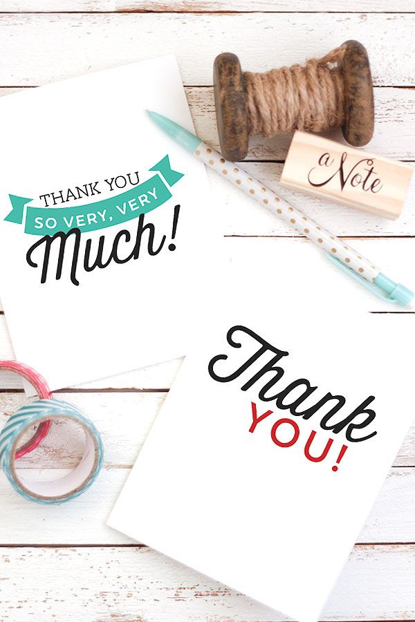 25 best ideas about printable thank you notes on