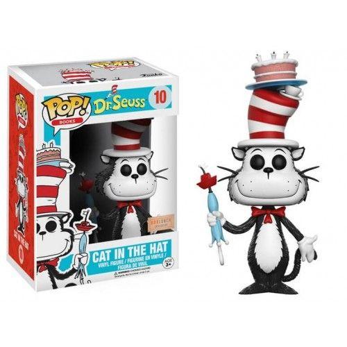 Funko Pop! Cat in the Hat Umbrella, O Gato de Chapéu, Dr. Seuss, Cat in the Hat, Cartoon, Box Lunch Exclusive, Funkomania, Books, Livros