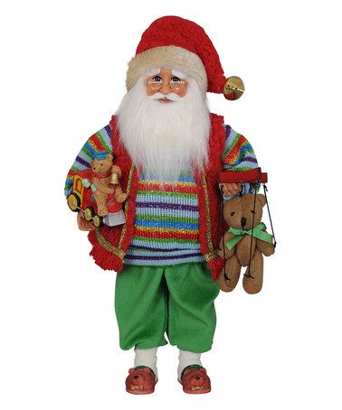 Another great find on #zulily! Beary Christmas Santa Figurine #zulilyfinds