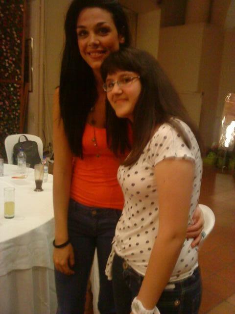 Εγώ με την Ιωάννα Τριανταφυλλίδου στην περιοδεία του κάψε!!!!