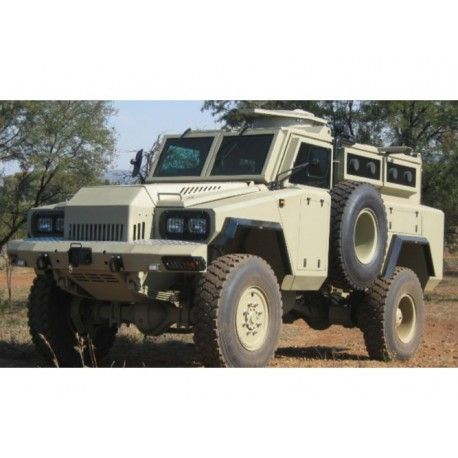 The Mamba is a South African armoured personnel carrier that offers protection against small arms fire and land mines. Itis suited for rough terrain and can carry up to 10 passengers plus the driver. It has been used by a number of countries as well as peacekeeping forces of the United Nations.