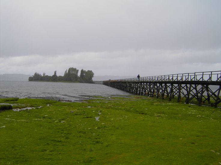 chiloe island | Wooden Bridge to Aucar Island, Chiloe, Chile