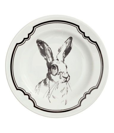 Plate $6.95 | H&M US - this would be cute displayed on a wall or on your kitchen counter