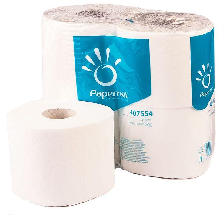 Hartie igienica Papernet 407554, celuloza 100%, 2 straturi.