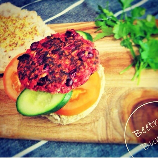Red Beans Beetroot Burgers - made with oats and beetroot these burgers are super nutritious! Wholefood, vegan