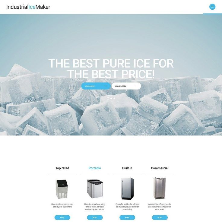 I like it how about you?   Industrial Ice Maker Website Template CLICK HERE! live demo  http://cattemplate.com/template/?go=2kM1al8  #templates #graphicoftheday #websitedesign #websitedesigner #webdevelopment #responsive #graphicdesign #graphics #websites #materialdesign #template #cattemplate #shoptemplates
