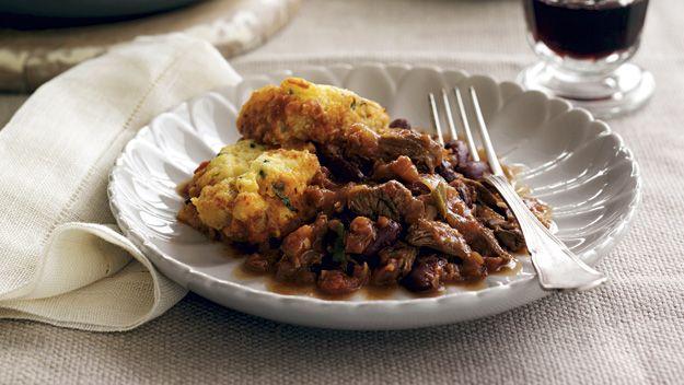 Chilli con carne with corn dumplings recipe - 9Kitchen