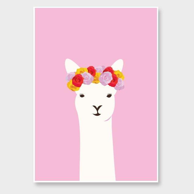Llama Del Ray Print - Art Prints NZ Art Prints, Design Prints, Posters & NZ Design Gifts   endemicworld