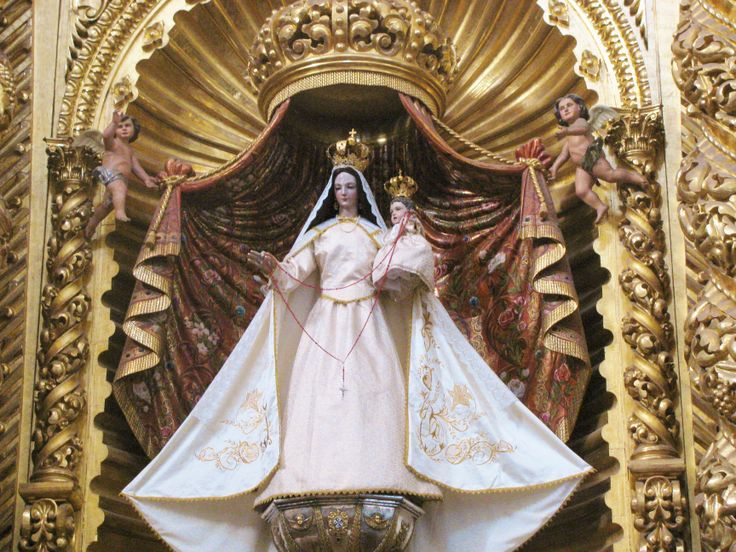 Our Lady of the Rosary in the famous Chapel of the Rosary, Santo Domingo Church, Oaxaca. MADONNAS OF MEXICO