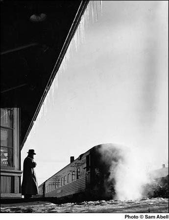 Iconic Sam Abell Image of his father waiting for the train...this man  inspires me so much. i was lucky to meet sam abell and it was truly amazing. i just wish i could pursue my dream as fearlessly as he pursued his.