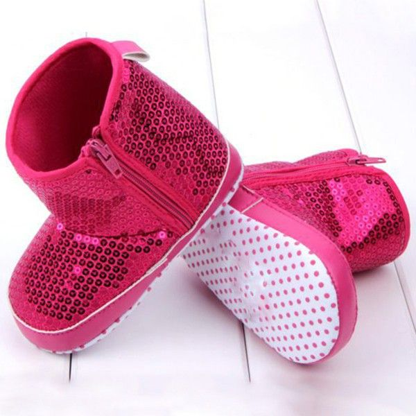 1pair Newborn Infant Baby Girls Soft Sole Glitter Sequin Shoes Boots 3 Color Baby Cotton Boots-in First Walkers from Mother & Kids on Aliexpress.com   Alibaba Group