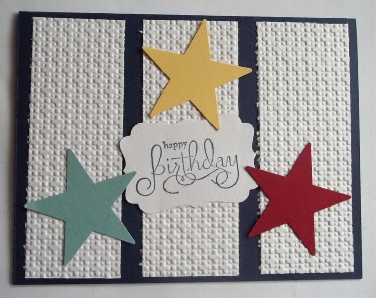 Stampin Up handmade greeting card BIRTHDAY STARS PY LOT | eBay