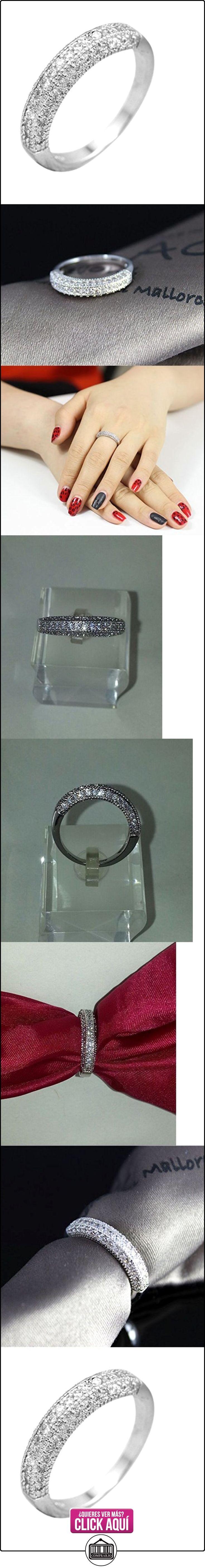 Anillo de plata del aniversario del canal del sistema del anillo de diamante de la CZ promesa de compromiso de bodas para ella OTAMAÑO  ✿ Joyas para mujer - Las mejores ofertas ✿ ▬► Ver oferta: https://comprar.io/goto/B01A9Z1EB4