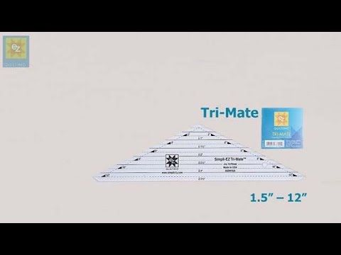 How to use the EZ Quilting Tri-Mate ruler with Jennie Rayment