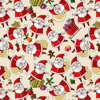 Фетр Санта Клаусы 20*30 см