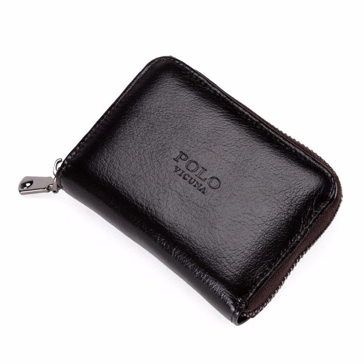 Men Waxy Oil Card Holder Zipper Open Credit Card Holder Men Card Wallet faux leather