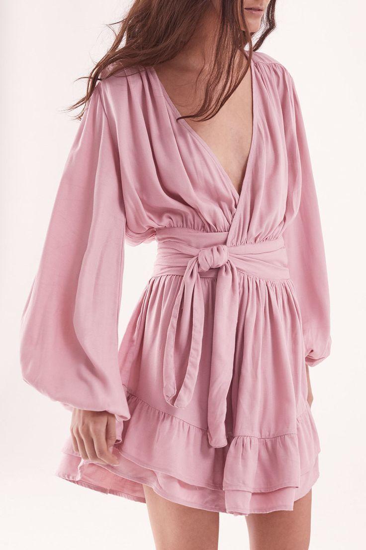 Steele - Felice Wrap Dress - Rose Pink