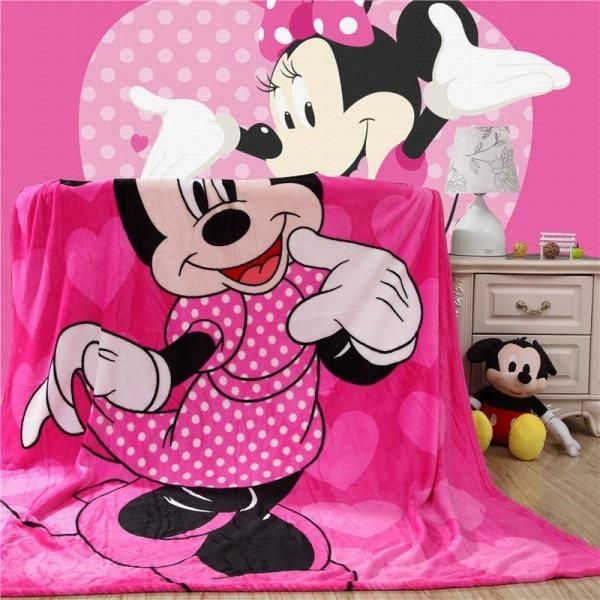 Disney Flannel Fabric Pink Minnie Mouse Pose Toss Cotton Multiple Sizes