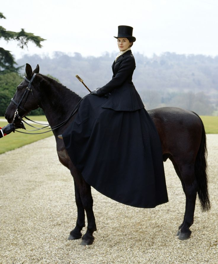 Downton Abbey :) I am seriously in love with the show. I love Mary's riding habit from this episode.