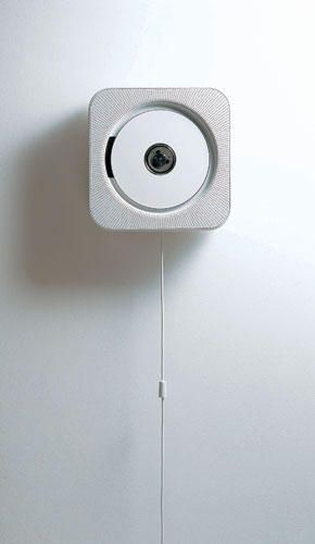 By Naoto Fukasawa. Inspired by a ventilation fan, the CD player for Muji plays music when the dangling electrical cord is pulled. It is in the permanent collection of the Museum of Modern Art.