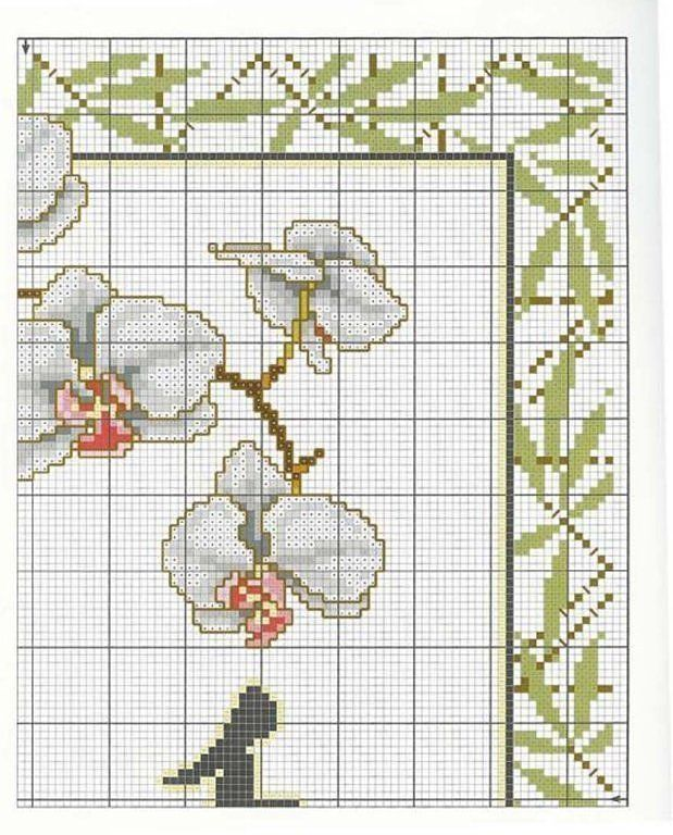 laboresdeesther Punto de cruz gratis : Flores de China