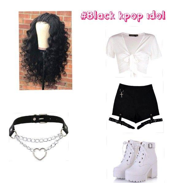Black Kpop Idol Kpop Fashion Fashion Kpop