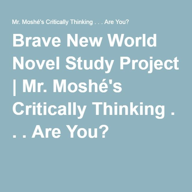 brave new world ap literature essay This question counts as one-third of the total essay section score)  brave new world dracula  ap english literature and composition 2017 free-response .