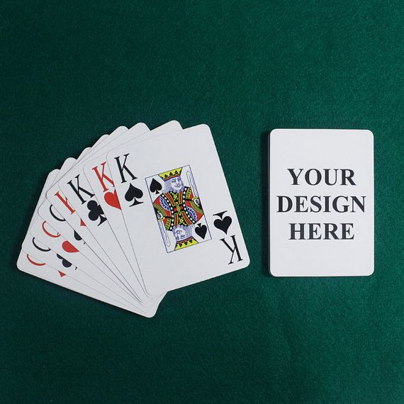 Personalized playing cards, poker playing cards game deck, 54 playing cards deck on Etsy, $7.99