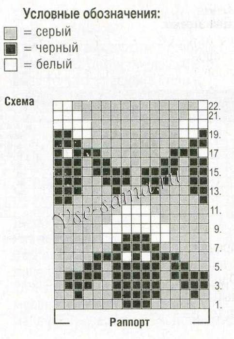 "Вязание. Жаккард - ""Зимняя радуга"" | VK                              …"