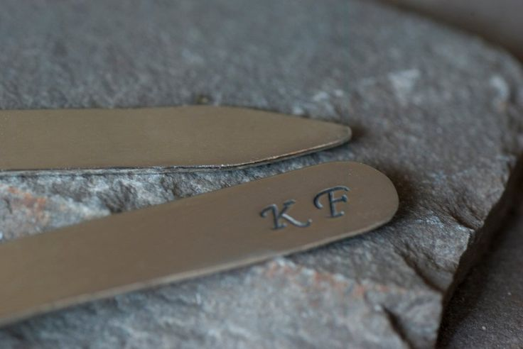Personalized Monogrammed Shirt Collar Stays