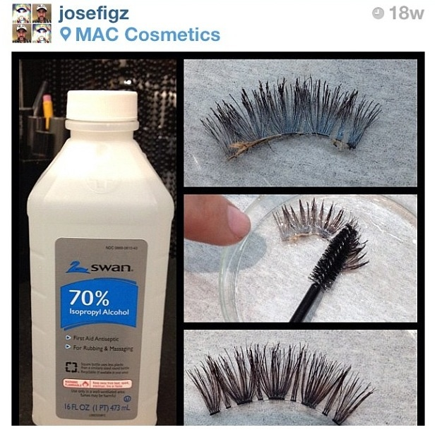 How to disinfect & reuse your false eyelashes
