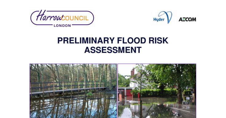 Flood risk assessment carried out by Harrow Council