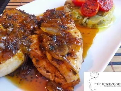 Pechugas de pollo con salsa de cerveza y mostaza a la antigua - Receta - Canal Cocina