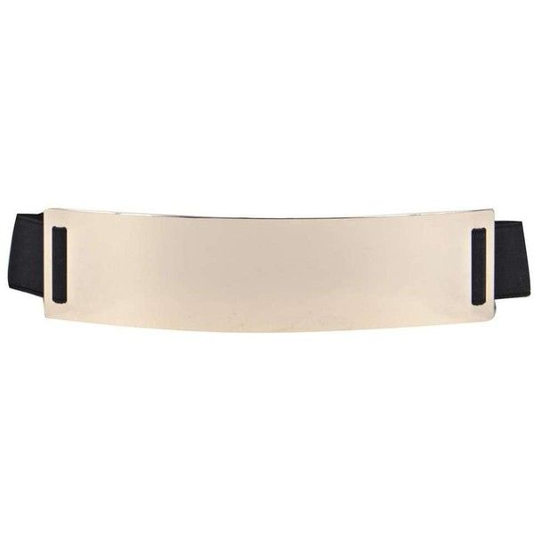 Boohoo Night Chelsea Metal Plate Waist Belt ($10) ❤ liked on Polyvore featuring accessories, belts, gold, metal belt, waist belt, skinny metal belt, thin belt and braided waist belt