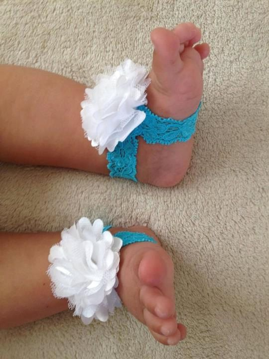 Pick your colors- Barefoot Baby Sandals Baby Shoes - Newborn - Infant - Baby Girl 0-6 month size - Pick your colors. $8.99, via Etsy.