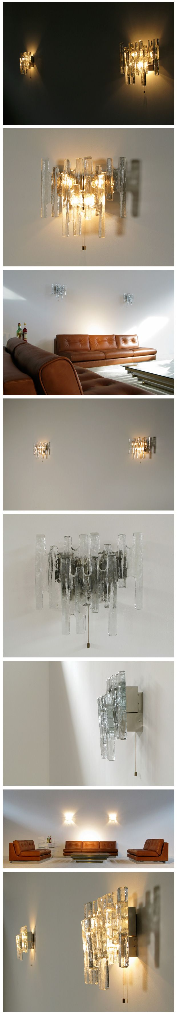 lighting fixtures las vegas. pair of kalmar glass sconces light sculpture 1970 lighting fixtures las vegas s